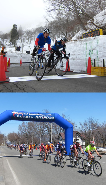 """Nanohana Iiyama cycle road race"" and the first race of ""All Japan student road race cup series"""